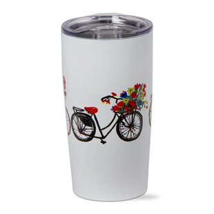 Bike Rider 18 oz. Stainless Steel Travel Tumblers