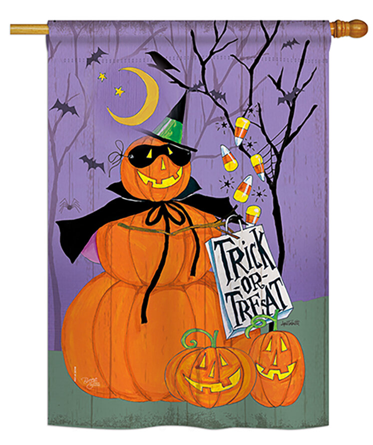 Breeze Decor Happy Pumpkin Trio 2 Sided Polyester 40 X 28 In Garden Flag Wayfair