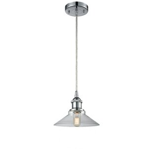 Beachcrest Home Nash 1-Light Cone Pendant