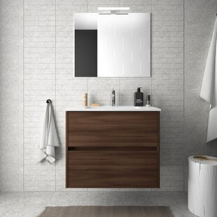 Elms 710mm Wall Hung Single Vanity Unit By Mercury Row