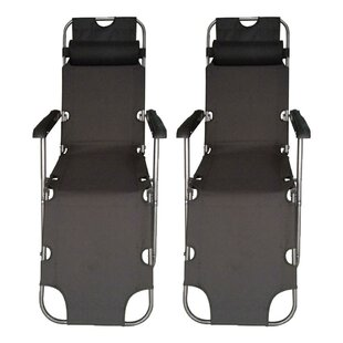 Strickland Reclining/Folding Zero Gravity Chair (Set of 2)