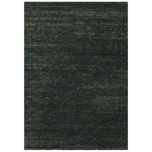 Inexpensive Avey Hand-Knotted Ebony Area Rug By Red Barrel Studio