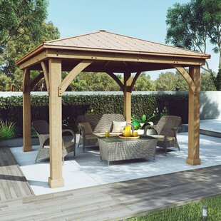 Yardistry Meridian 12 Ft. W x 12 Ft. D Solid Wood Patio Gazebo