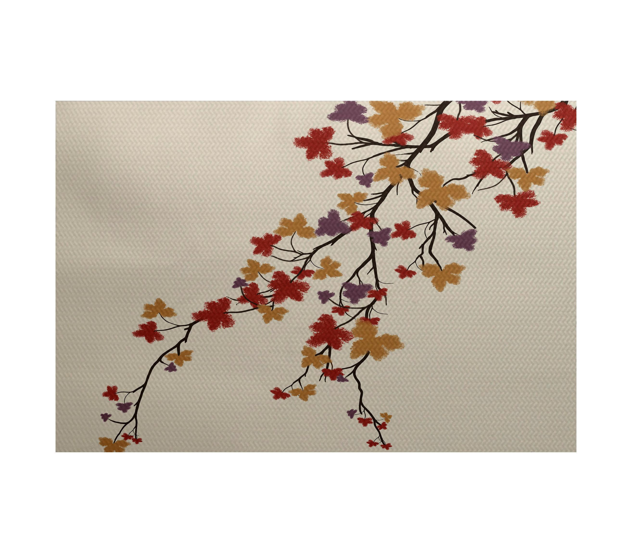 Red Barrel Studio Macaro Maple Hues Flower Flatweave Purple Rug Wayfair