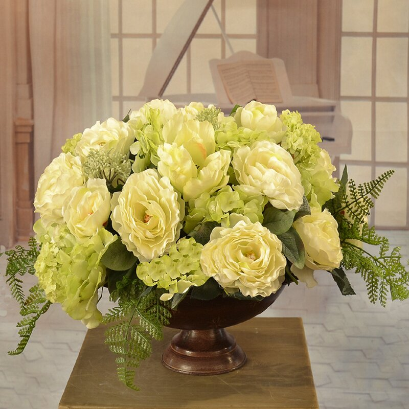 Floral Home Decor Mixed Centerpiece In Decorative Vase Wayfair