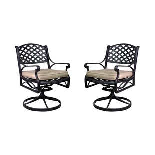 Amelio Patio Chair with Cushion (Set of 2)