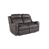 Candida Faux Leather Reclining 61 Charles of London Loveseat by Williston Forge