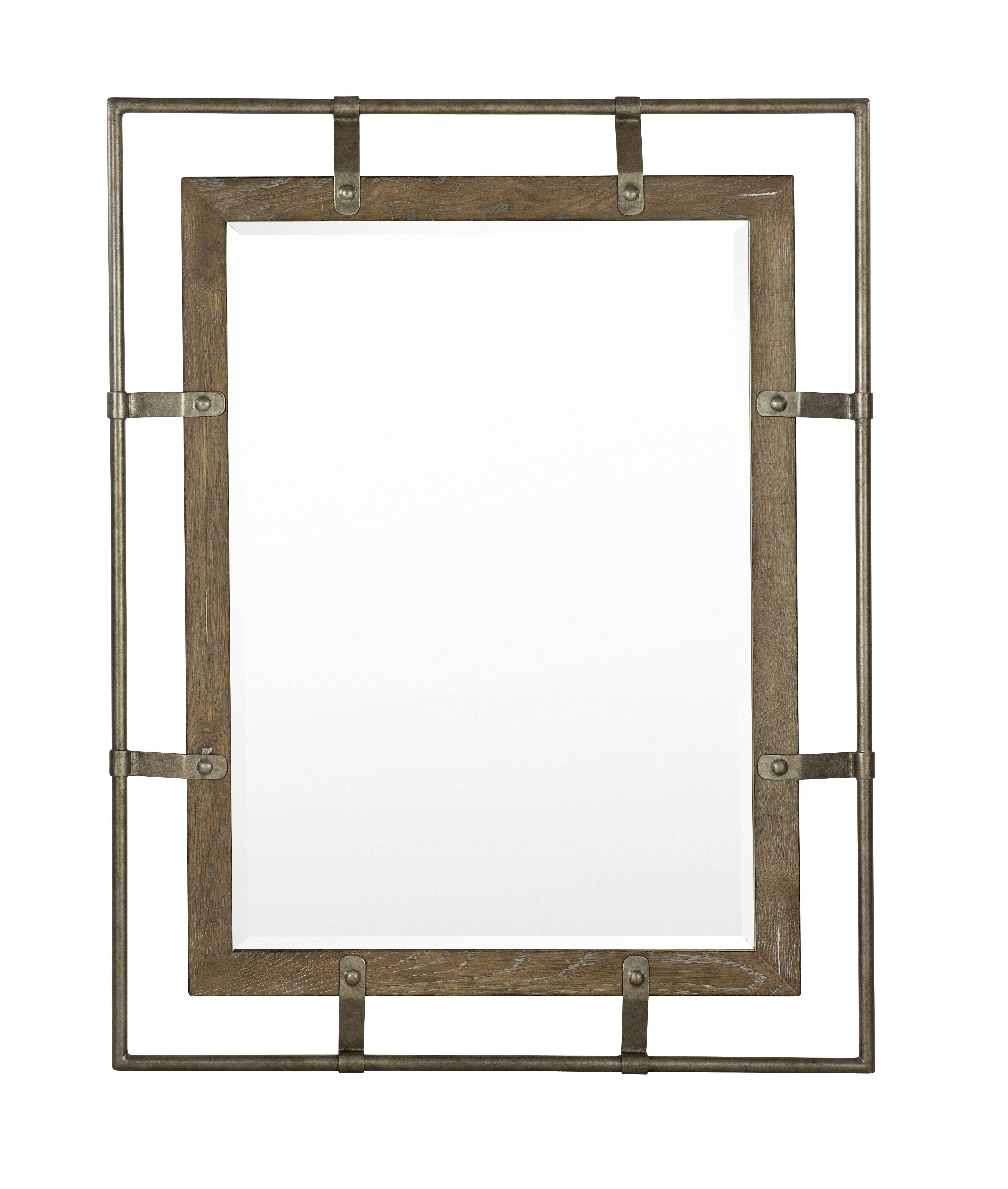 Bernhardt Rustic Patina Industrial Beveled Distressed Accent Mirror Perigold