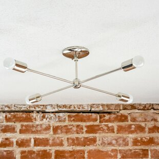 Illuminate Vintage Mid Century 4-Light Semi Flush Mount