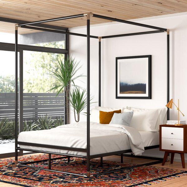 Canopy Bed.Adler Queen Canopy Bed Reviews Allmodern