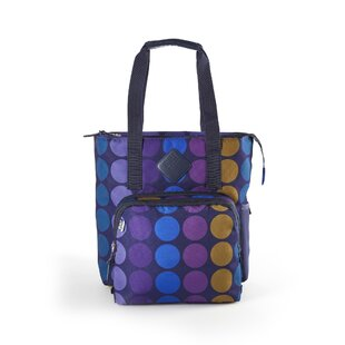 Lunchpack Verdi Plum Dot Picnic Tote Bag