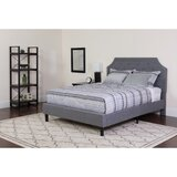 Porath Tufted Upholstered Platform Bed with Mattress by Charlton Home®