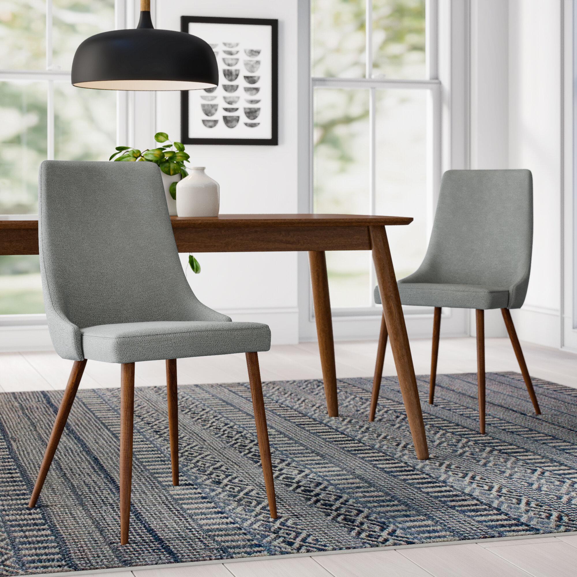 Allmodern Aldina Upholstered Dining Chair Reviews Wayfair