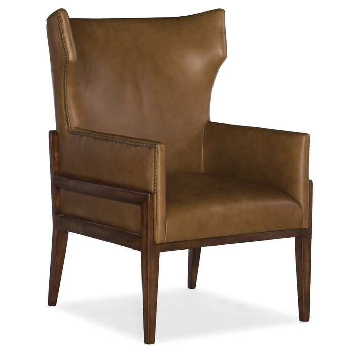 Sensational Burrell Leather Wingback Chair Short Links Chair Design For Home Short Linksinfo