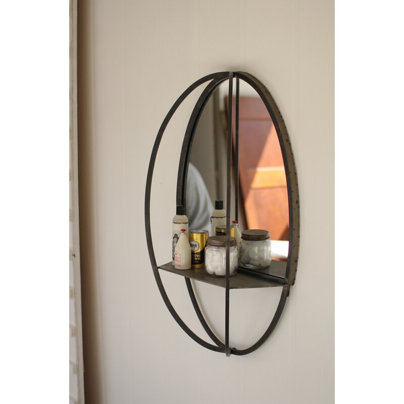 Gracie Oaks Houchin Cottage Country Accent Mirror With Shelf Wayfair
