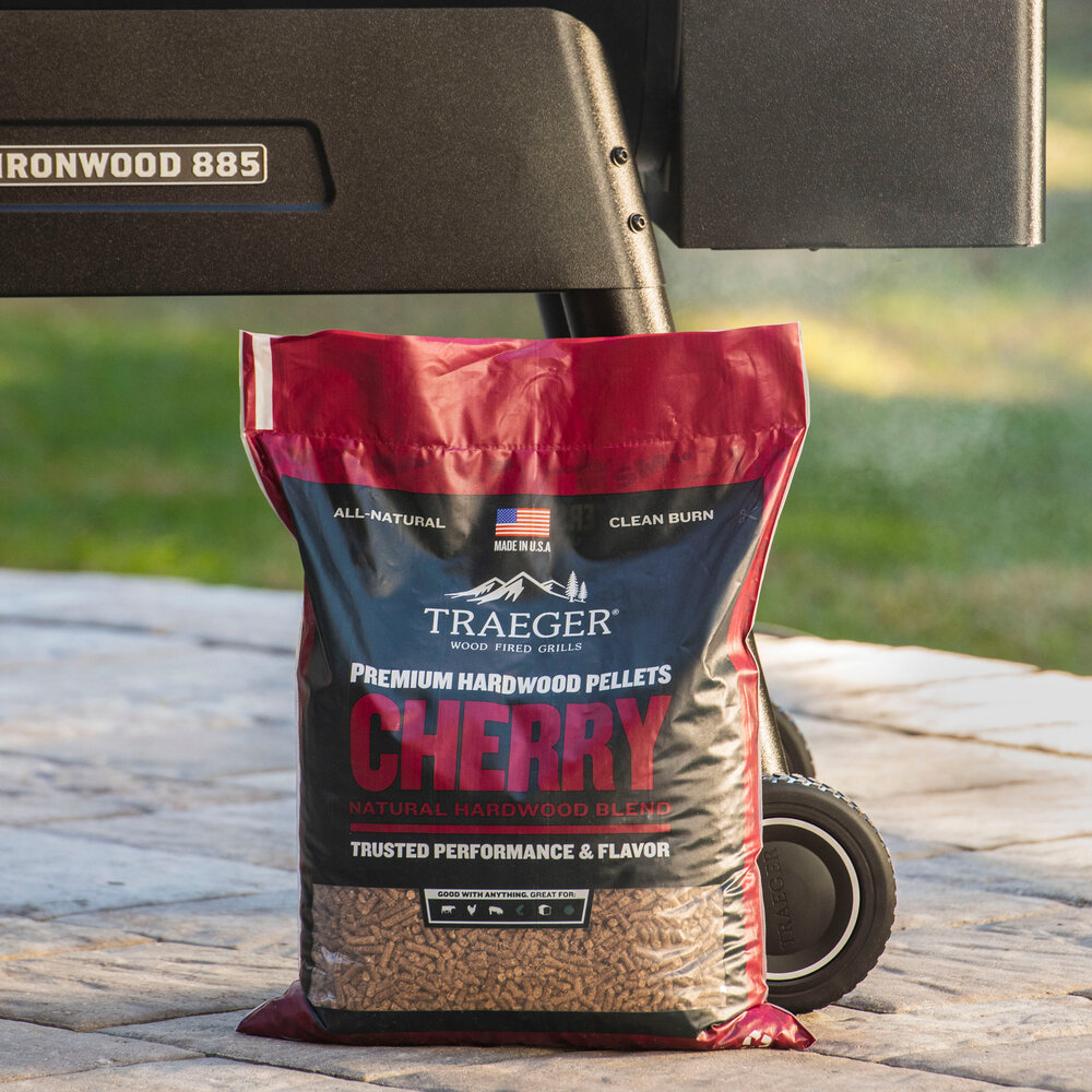 20lbs Details about  /Traeger Grills PEL309 Cherry 100/% All-Natural Hardwood Pellets Grill