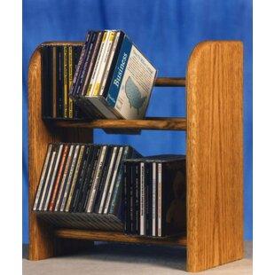 Best Reviews 200 Series 52 CD Dowel Multimedia Tabletop Storage Rack ByWood Shed