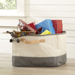 Tub Storage Bin Leather Handle