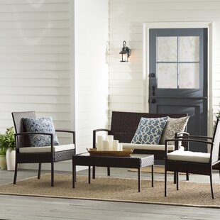 Kari 4 Piece Rattan Sofa Set with Cushions