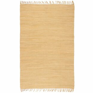 Shirely Hand-Knotted Cotton Beige Rug by Longweave