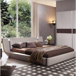 Orren Ellis Andice King Upholstered Platform Bed with Light