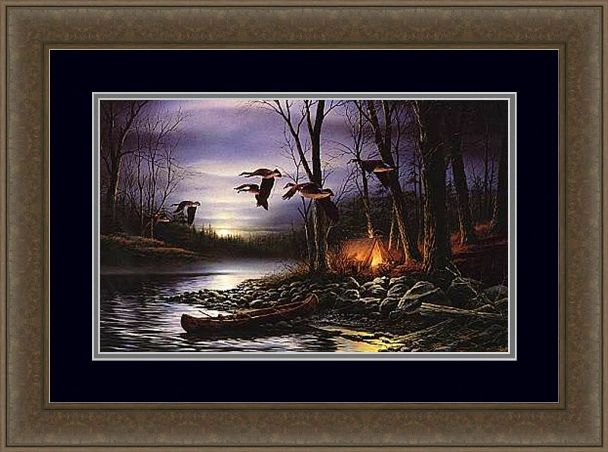 HadleyHouseCo Evening Glow by Terry Redlin Framed Painting Print ...