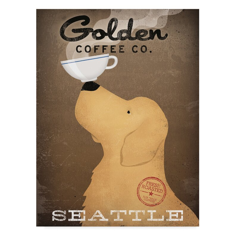 Winston Porter Golden Coffee Co Seattle Graphic Art Print On Wrapped Canvas Wayfair