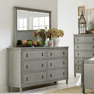 Partone 6 Drawer Double Dresser with Mirror by Greyleigh