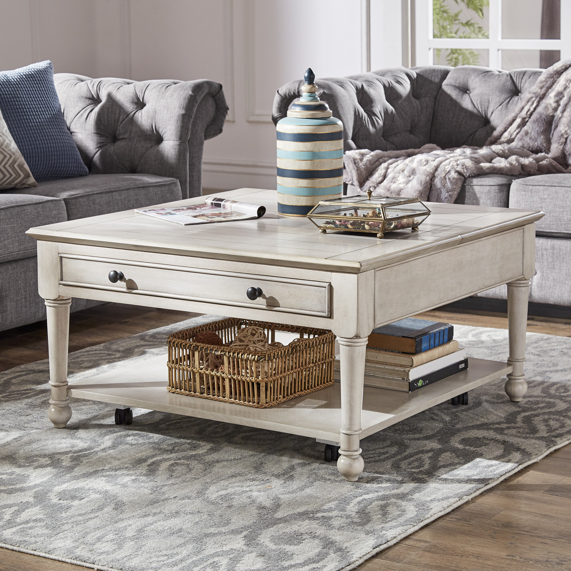 Lift Top Square Mirrored Coffee Tables You Ll Love In 2021 Wayfair