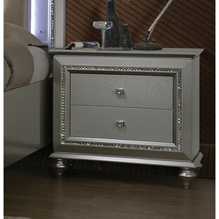Dehon 2 Drawer Nightstand by Rosdorf Park