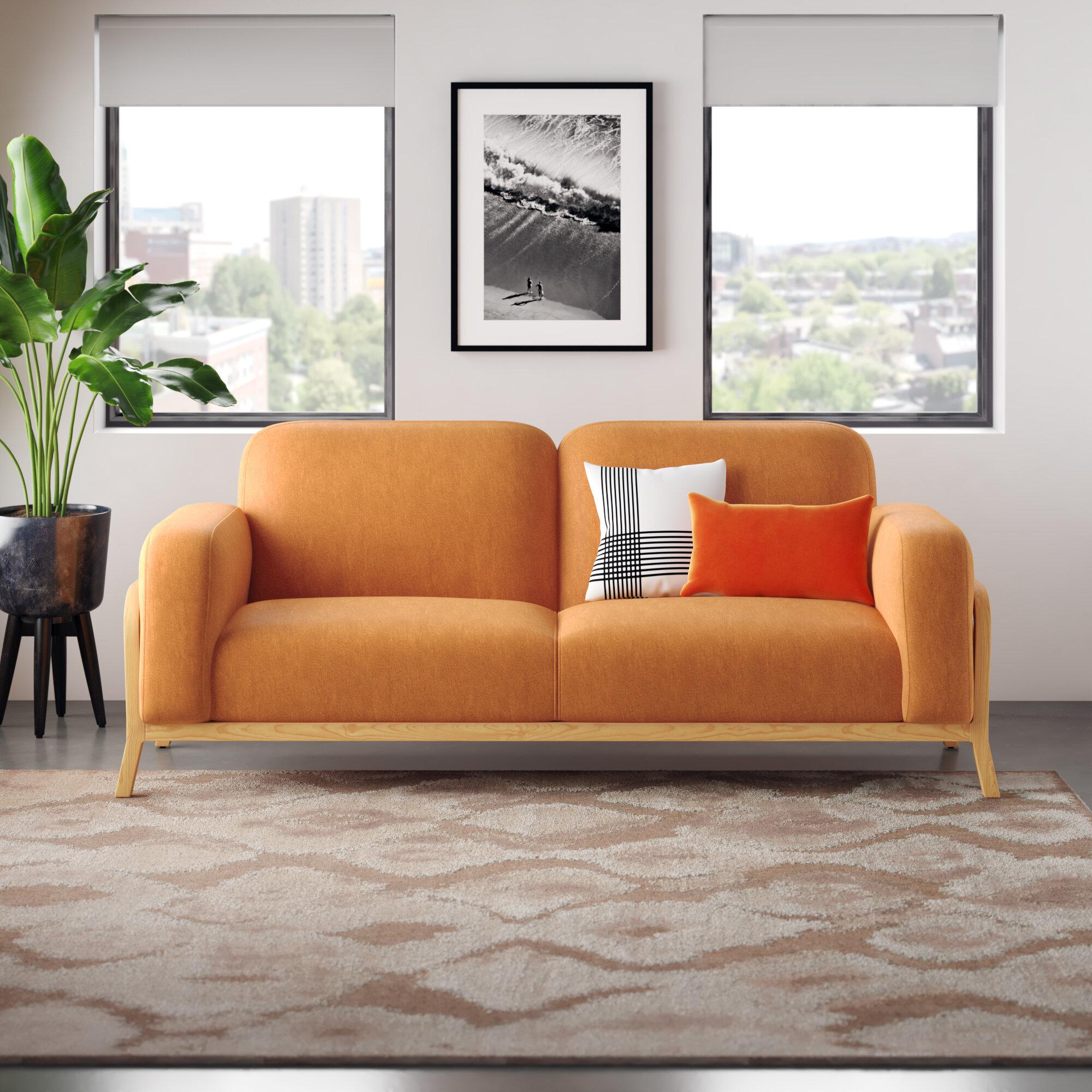 Detweiler 86 Velvet Sofa Allmodern