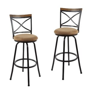Spokane Adjustable Height Swivel Bar Stool (Set of 2) by Fleur De Lis Living