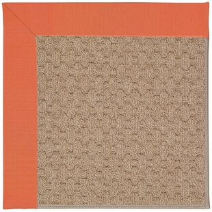 Lisle Machine Tufted Sorrel/Brown Indoor/Outdoor Area Rug