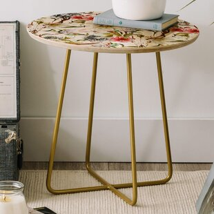 Marta Barragan Blooming in the Garden Round End Table by East Urban Home
