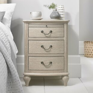 Abbey Glen 3 Drawer Bedside Table By Ophelia & Co.