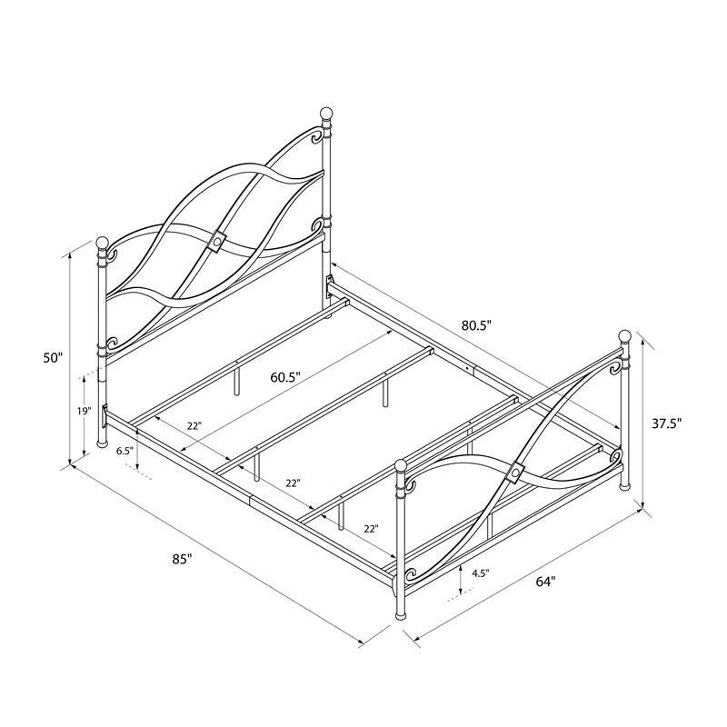 dhp premium queen platform bed