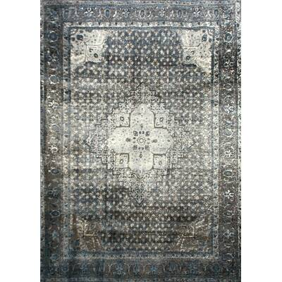 Pascoe Blue Grey Silver Area Rug