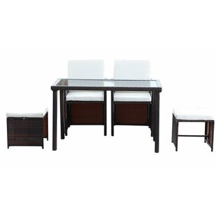 5 Piece 4 Seater Dining Set By Sol 72 Outdoor
