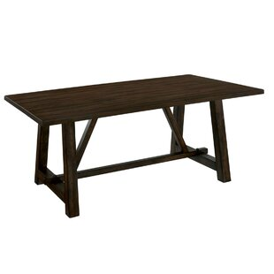 Stalbridge Transitional Solid Wood Dining Table Gracie Oaks