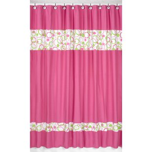Circles Pink Cotton Shower Curtain by Sweet Jojo Designs