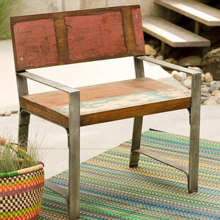 Croce Reclaimed Wood Iron Framed Armchair by Williston Forge