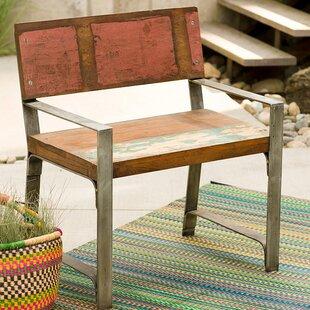 Great Croce Reclaimed Wood Iron Framed Armchair