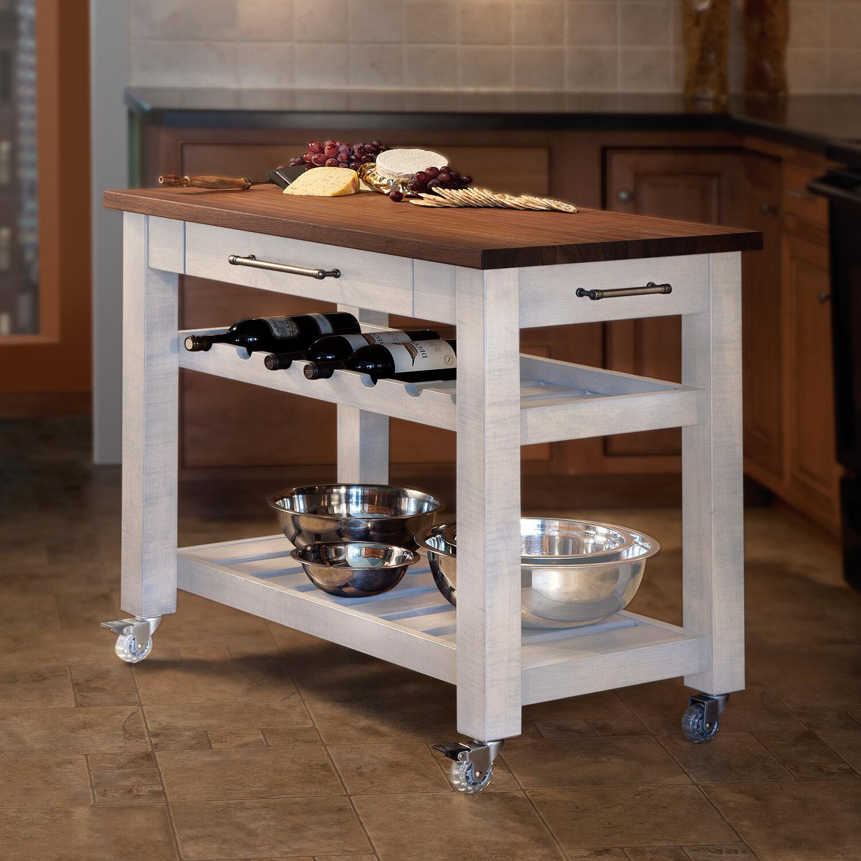 Modern Wooden Mobile Kitchen Island Cart On Wheels - Wooden White - Natural  Butcher Block - Buy Modern Wooden,Mobile Kitchen Island Cart,Wooden White  ...