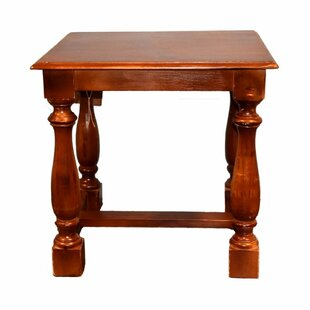Laureano Square Wooden End Table by Alcott Hill