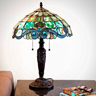 Cristy Stained Glass 20.25 Table Lamp