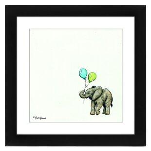 Nursery Elephant Framed Painting Print
