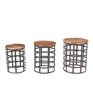 Bayaud Drum 3 Piece Nesting Table Set