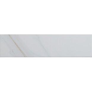 Classique Calacatta 4 inch  x 16 inch  Ceramic Tile in White