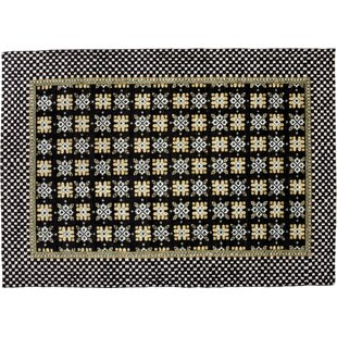 Big Save One-of-a-Kind Kilim Hand-Knotted Black Area Rug By Darya Rugs