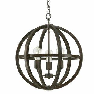 Wrought Studio Laoise 3-Lighted Globe Chandelier